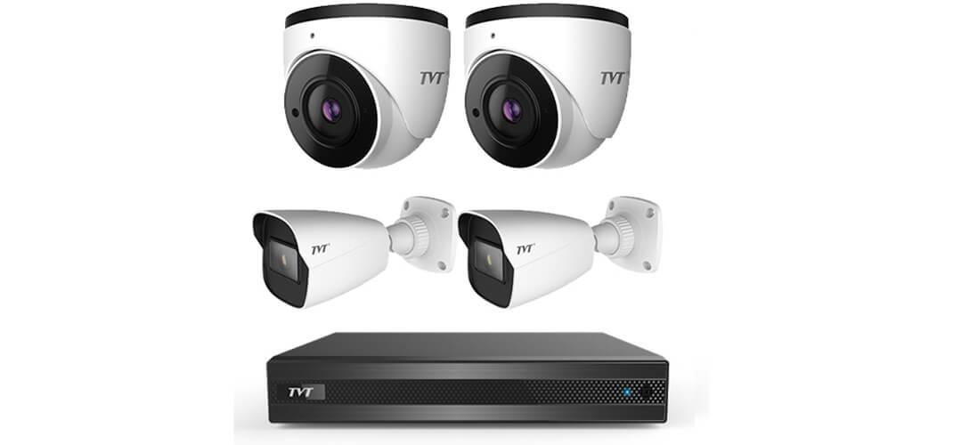 پکیج کاربردی 4 دوربین برندTVT